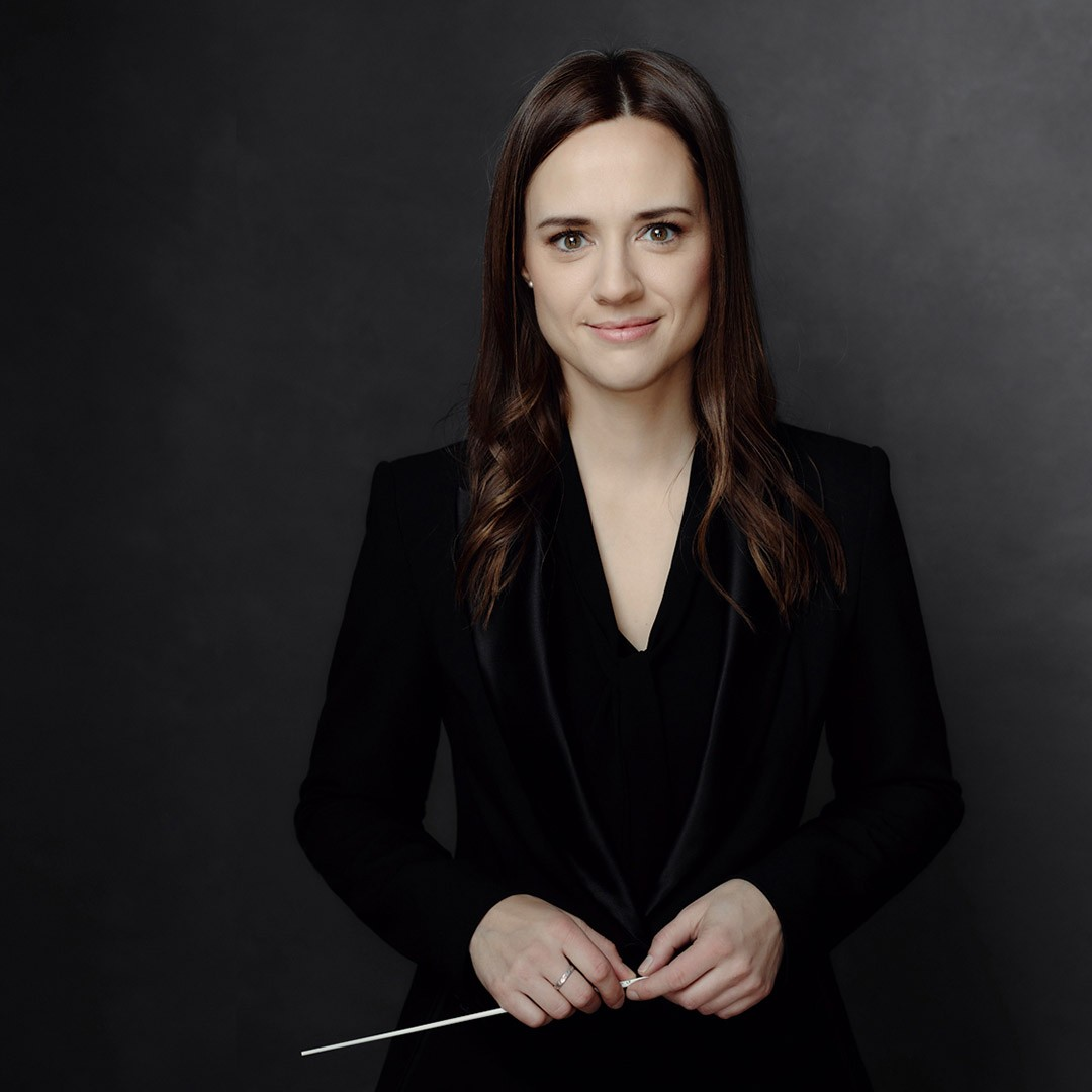 Portrait of the conductor Dina Gilbert