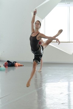 Eleonore Thomas, during ballet class.