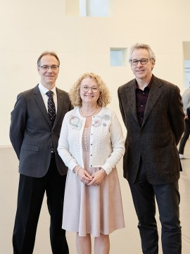 Christian Senechal, Marguerite Blais and Marc Lalonde at the National Centre for Dance Therapy