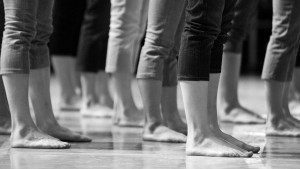 The Grands Ballets dancers in rehearsal