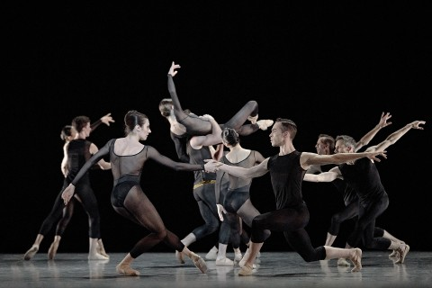 es Grands Ballets' dancers onstage