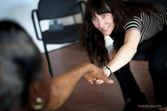 National Centre for Dance Therapy - therapist with patient holding hands