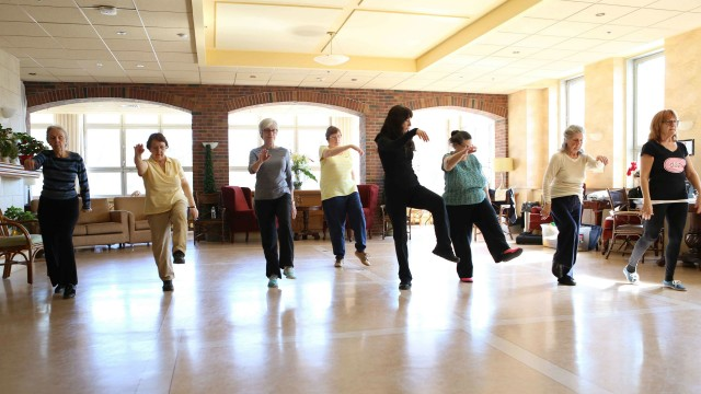 Dance-therapists working with elder people