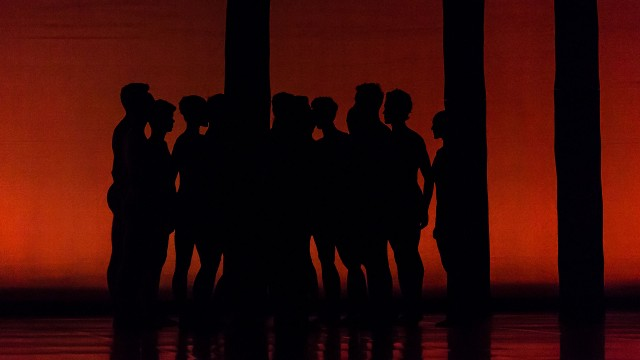 Preludes - dancers silhouettes on red background