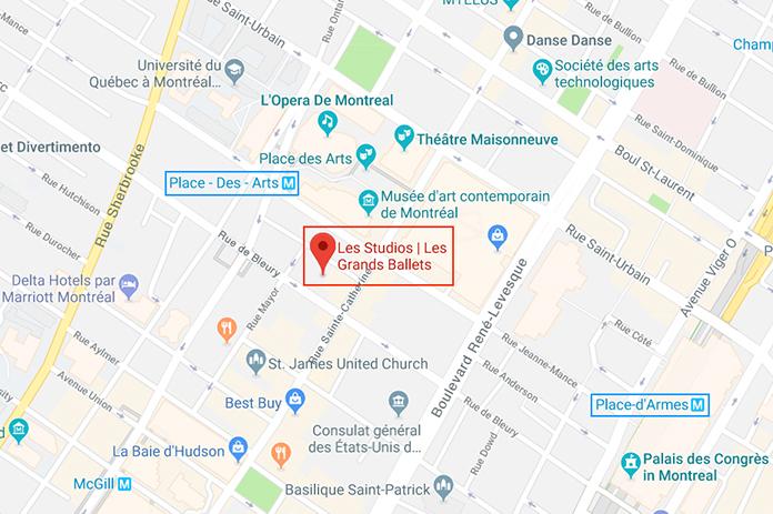 Carte Les Studios